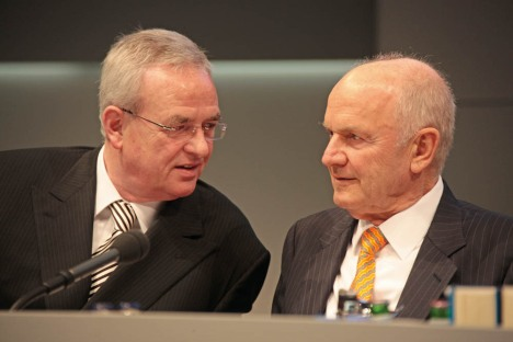 Martin Winterkorn, CEO da VW (à esq.) e Ferdinand Piech, presidente do Grupo VW